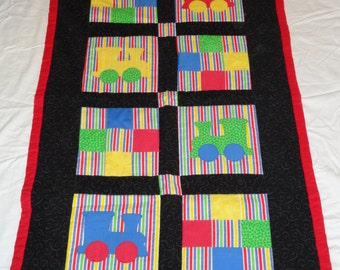 Appliqúed Train Baby Quilt
