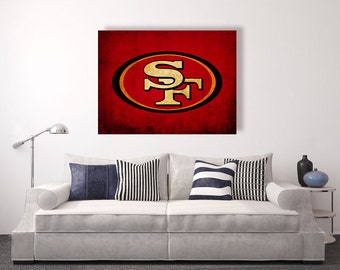 San francisco 49ers etsy for 49ers room decor