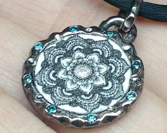 Lotus Necklace with Stone Color of Your Choice