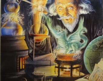 The Alchemist 27x39 Fantasy Wizard Poster 1994