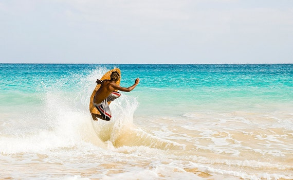 Jumping Skimboarder,Cape Verde Islands,Travel pictures,limited edition print,photographic print