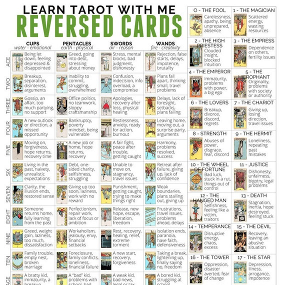 Impeccable image with printable tarot cards with meanings