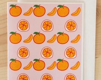 Oranges Card, Citrus Card, Fruit Card, Florida Card