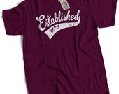 Established in 1976 40th Birthday Present Mens Premium TShirt Choice of 12 Colours in Sizes Small to 2X Large