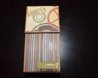 I Rock handmade vintage scrapbook min album