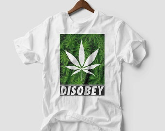 Marijuana Weed LEAF T-SHIRT addicted kush pot leaf cannabis UNISEX Tee Xs Xl