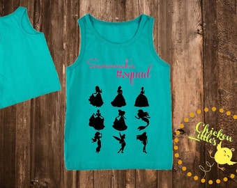 Squad Goals Princess Squad little girls tank ***sizes 2T to 12 years***