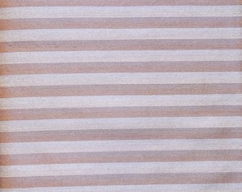 striped beige and coffee iridescent fabric