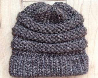 Brown Knit Hat
