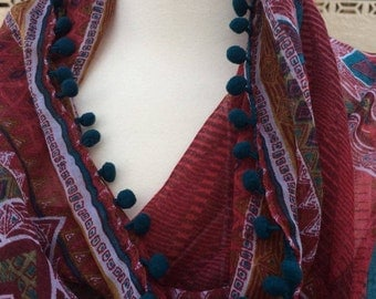 Moroccan Inspired Summer Scarf/Wrap