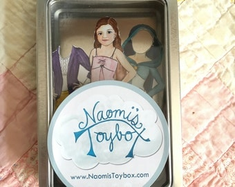 ADD-ON Personalized Magnetic Paperdoll in Travel Tin