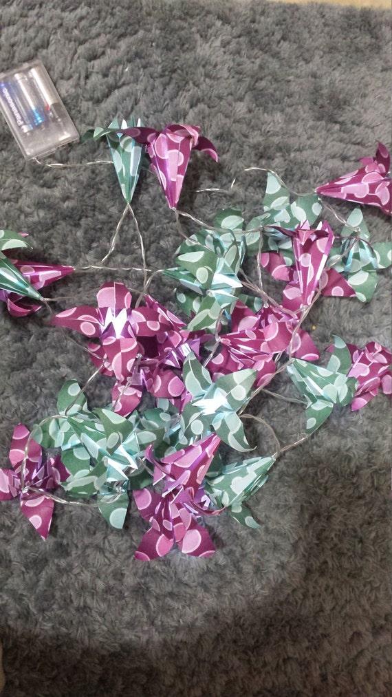 Target Origami String Lights : Lily origami LED string lights