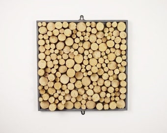 Hand Crafted Bark Wooden Wall Art