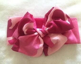 Pinky Pink Camo Headwrap