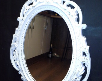 French Style Distressed Mirror