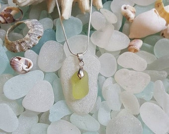 ON SALE Bright Yellow! Seaglass
