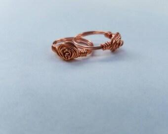 Beautiful copper Rosette ring.