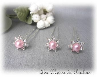 Bun rhinestone pink x 5 wedding pics