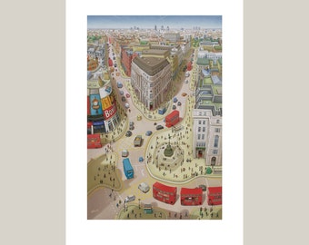Piccadilly Circus - Greeting Card - London Art - London print