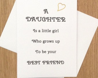 Card for a special daughter, birthday, any occasion, blank inside.