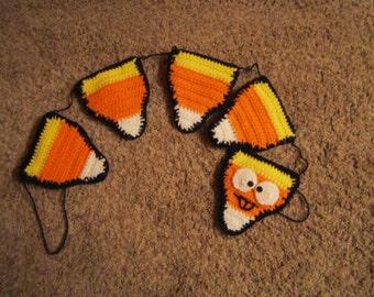 Candy Corn Banner/Garland - Hand Crocheted