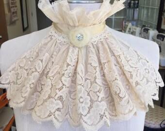 White Vintage Lace Bib
