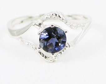 Iolite Textured Ring Sterling Silver
