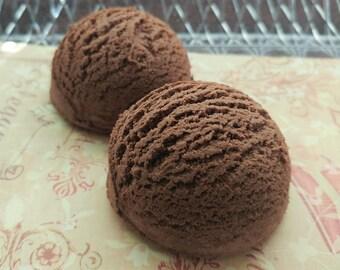 2 Coffee Bath Truffles / Bubble Bath Scoops / Bubble Bath / Solid Bubble Bath / Cocoa Butter Bath Truffles / Bath / Coffee Bubble Truffles