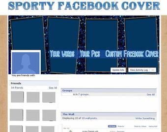 Sporty Facebook Cover - Custom Facebook Cover for Amanda