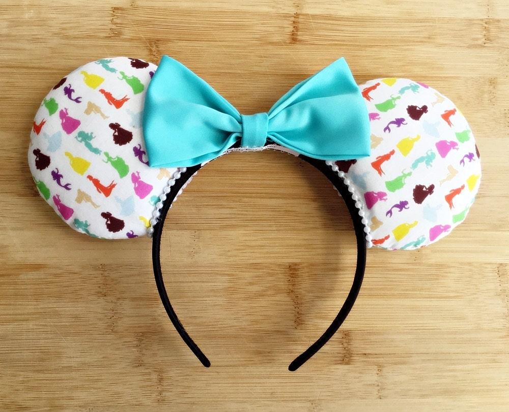 Princess minnie ears princess mouse ears custom princess - Princesse minnie ...