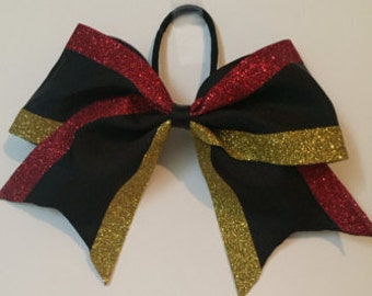 """3"""" out lined cheer bow"""