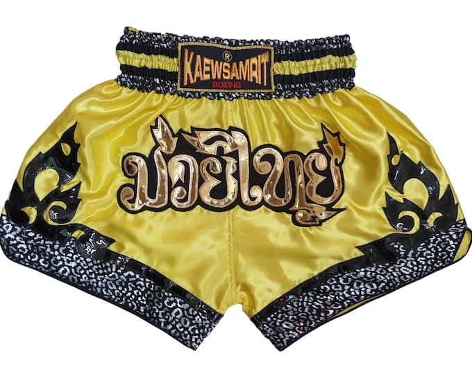 Original Muay Thai Boxing Shorts Martial Arts - Yellow