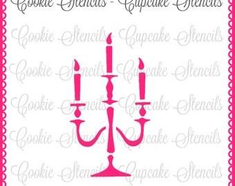Stencil for cookie decorating Halloween chandelier !  cookie stencil !  NB1080 candelabra