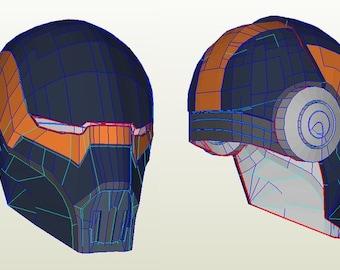 Asajj Ventress Bounty Hunter Helmet ( Pepakura )