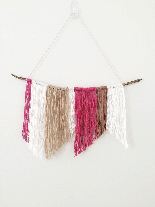 Tribal yarn wall hanging wall decor free shipping for Yarn wall hanging