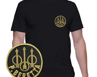 Beretta t shirt with patch applied