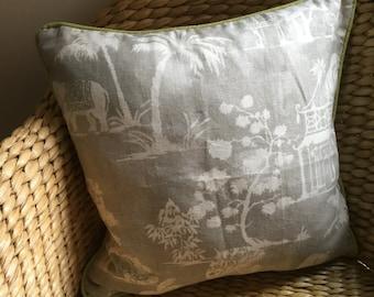 When in India cushion