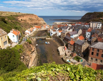 A view of Staithes, North Yorkshire.