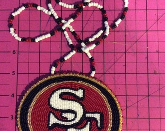 Beaded San Fran 49ers Medallion