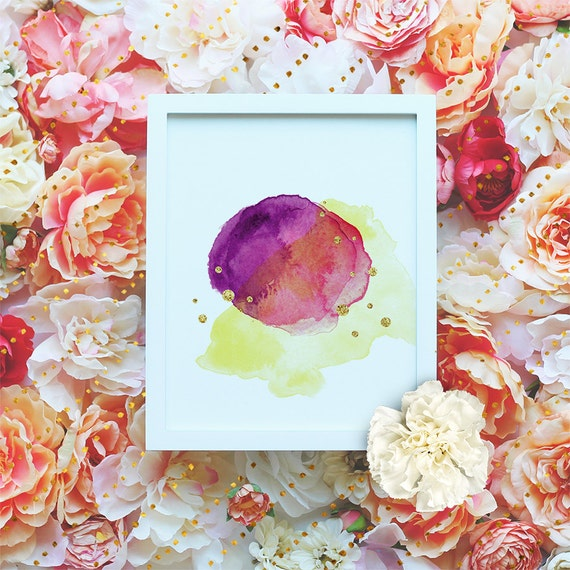 Watercolor Art, PRINTABLE art, Watercolor Brushstroke art, Abstract printable art, Printable abstract Modern art print- Instant Download
