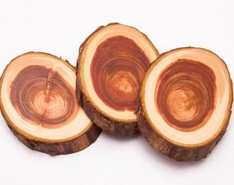 Western Red Cedar Wood Slice, Wood Slice for Jewelry Making, Wood Slice Pendant, Red Wood Slice, Sanded Wood Slice, Wood Slice Jewellery