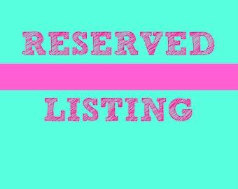 Item reserved