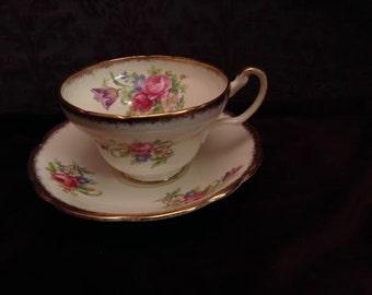 Vintage Foley Tulip Bone China Tea Cup and Saucer