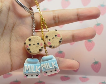 Milk and Cookies keychain