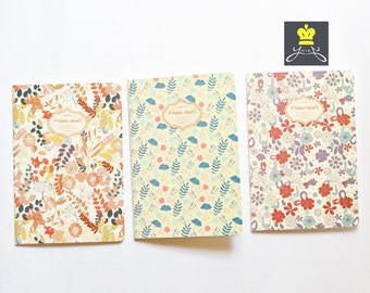A5 Floral notebooks with blank pages for planning or journaling