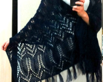 Shawls knitted mohair openwork