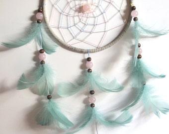 Ophelia Dreamcatcher with Rose Quartz Crystals