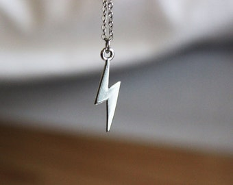 Lightning Necklace, Lightning Charm Necklace, Lightning Jewelry, Harry Potter Necklace, Harry Potter Jewelry, Harry Potter Charm