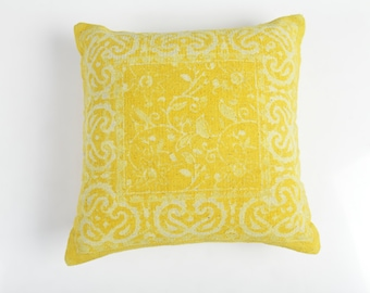 Ray of Sunshine - yellow 100% cotton cushion cover