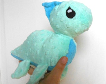 READY TO SHIP: Handmade Loch Ness Monster plush, nessie plush made out minky fleece